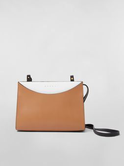 Marni LAW bag in leather white and brown Woman