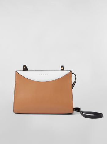 LAW bag in leather white and brown 114b9f8e3eb0a