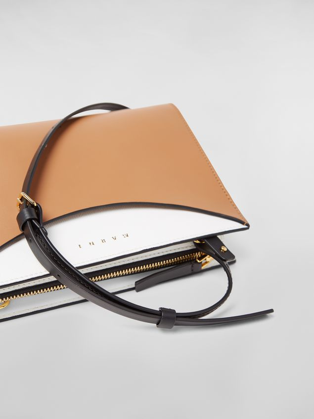 Marni LAW bag in leather white and brown Woman - 5