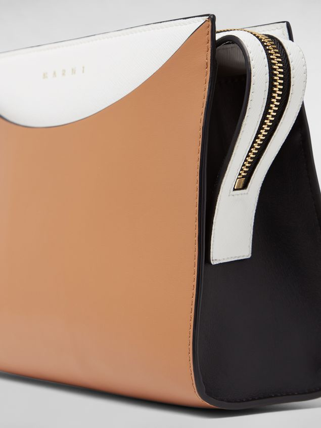 Marni LAW bag in leather white and brown Woman - 4