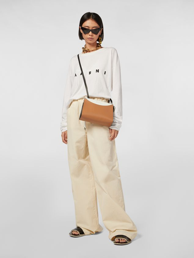 Marni LAW bag in leather white and brown Woman - 2
