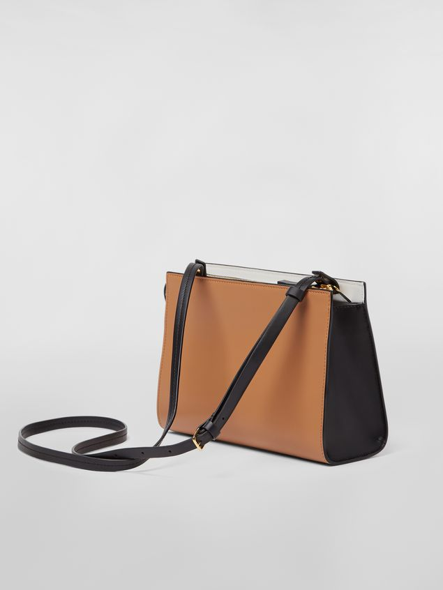 Marni LAW bag in leather white and brown Woman - 3