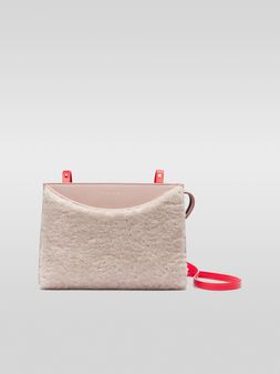 Marni LAW bag in leather and sheepskin Woman