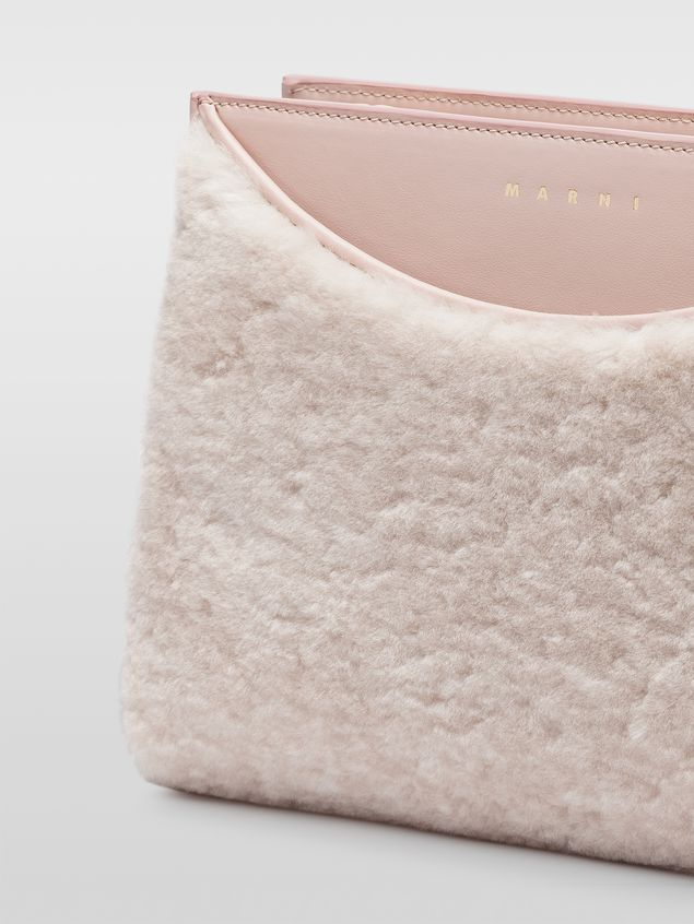Marni LAW bag in leather and sheepskin Woman - 2