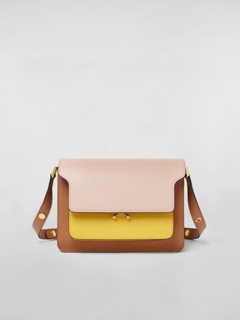 Marni TRUNK bag in three-colored calfskin Woman