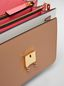 Marni TRUNK bag in saffiano calfskin in white, beige and pink Woman - 4