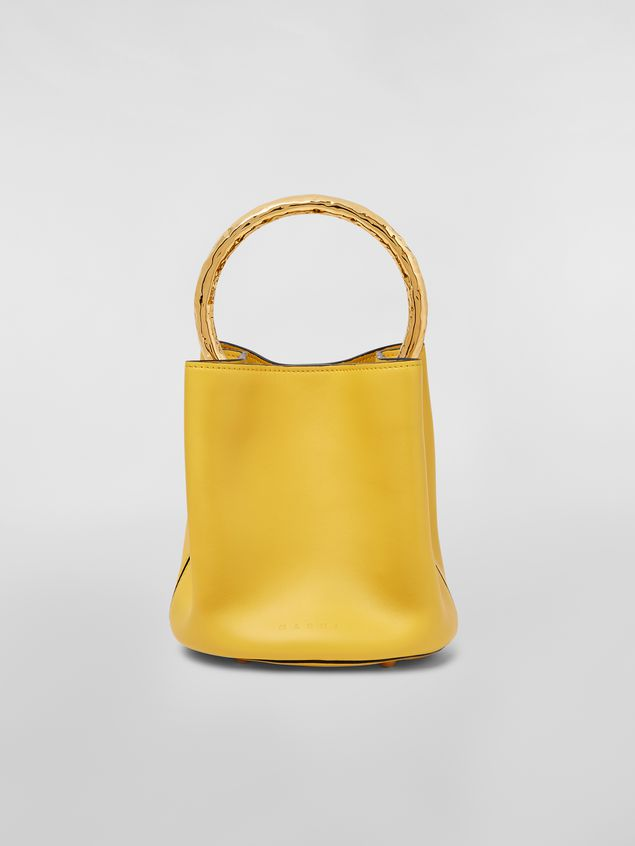 Marni PANNIER bag in leather with gold-tone metal handle Woman - 1