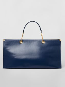 Marni East-West snap link GRIP bag in leather Woman