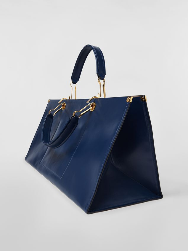Marni East-West snap link GRIP bag in leather Woman - 4