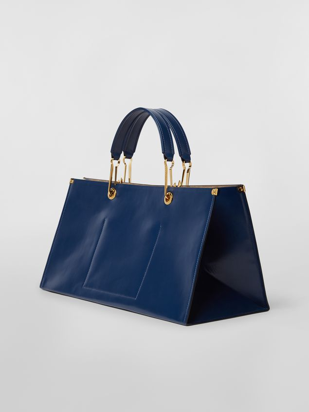 Marni East-West snap link GRIP bag in leather Woman - 3