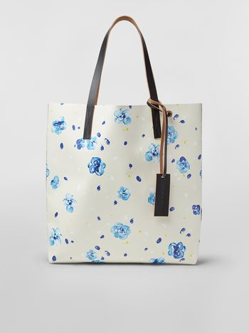 Marni SHOPPING bag in PVC with Iride print Woman