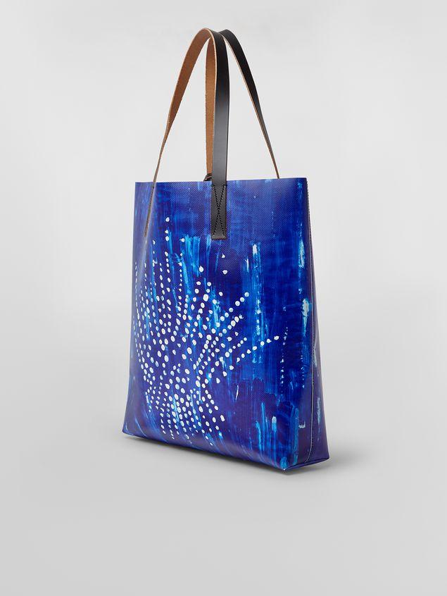 Marni SHOPPING bag in PVC with Estia print Woman