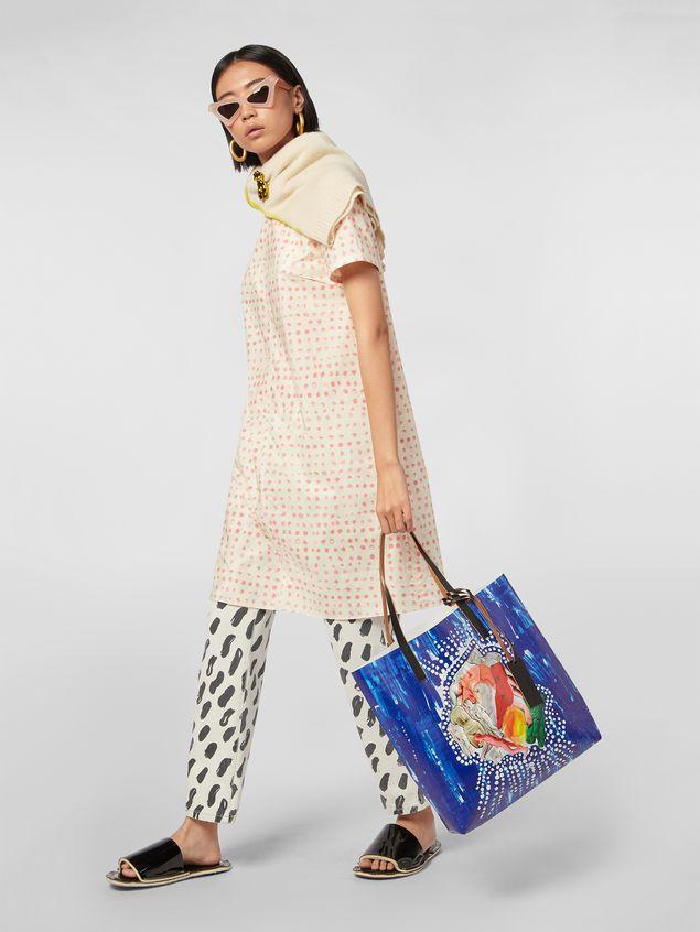 Marni SHOPPING bag in PVC with Estia print Woman - 2