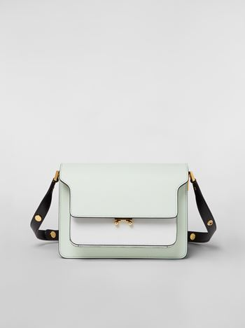 Marni TRUNK bag in saffiano calfskin in green, white and black Woman