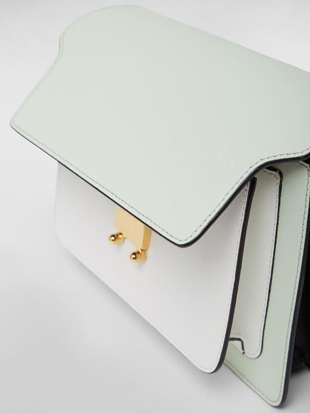 Marni TRUNK bag in saffiano calfskin green white black Woman - 4