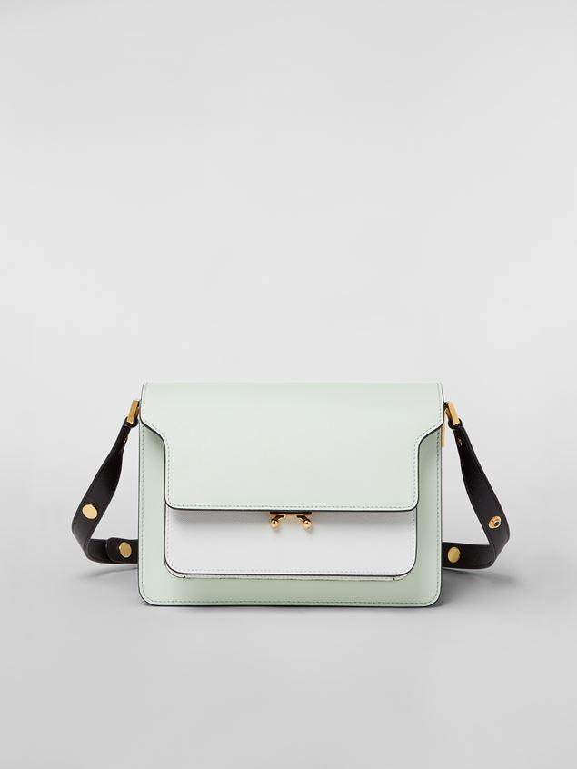 Marni TRUNK bag in saffiano calfskin green white black Woman - 1