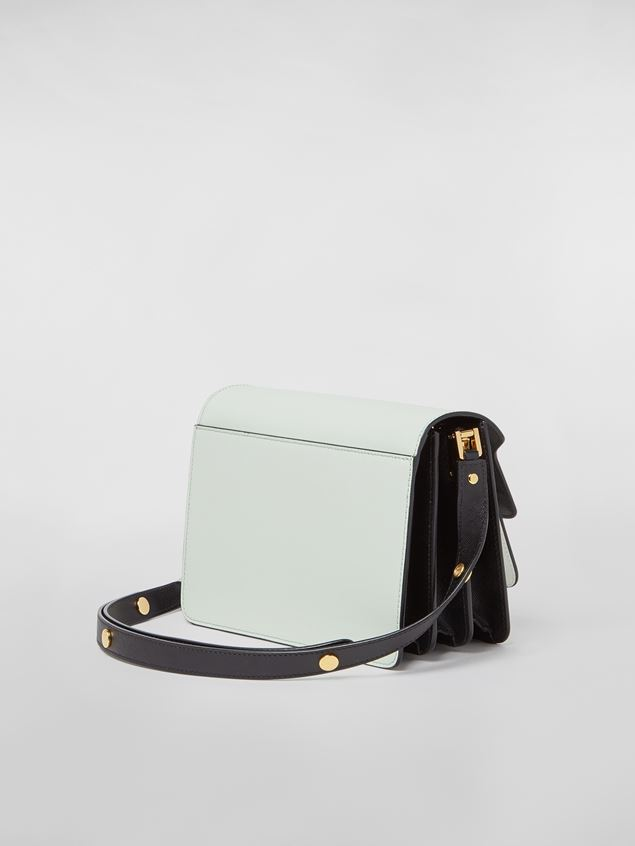 Marni TRUNK bag in saffiano calfskin in green, white and black Woman - 3