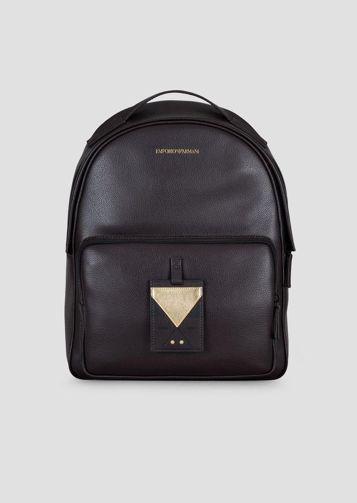 6eaf1b92da6e Tumbled leather and nappa backpack