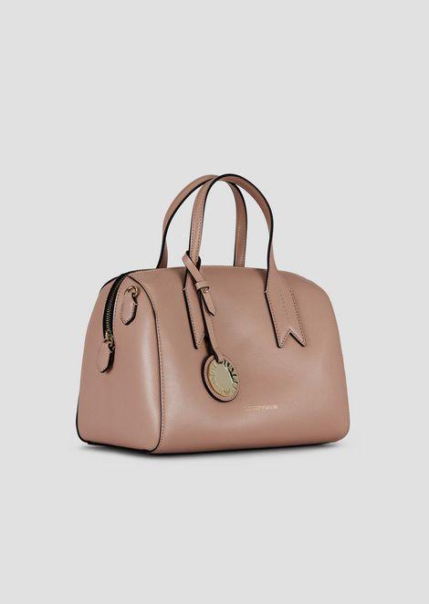 Boston bag with logo charm