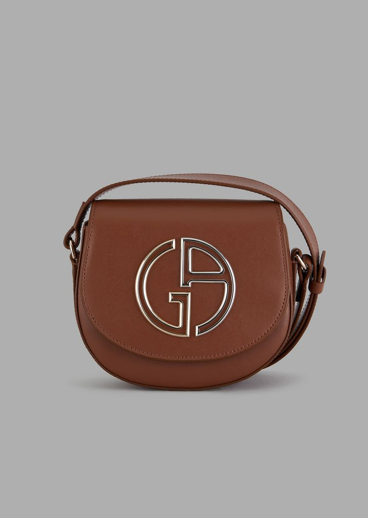 39b421d4473b Mini shoulder bag in leather with GA logo