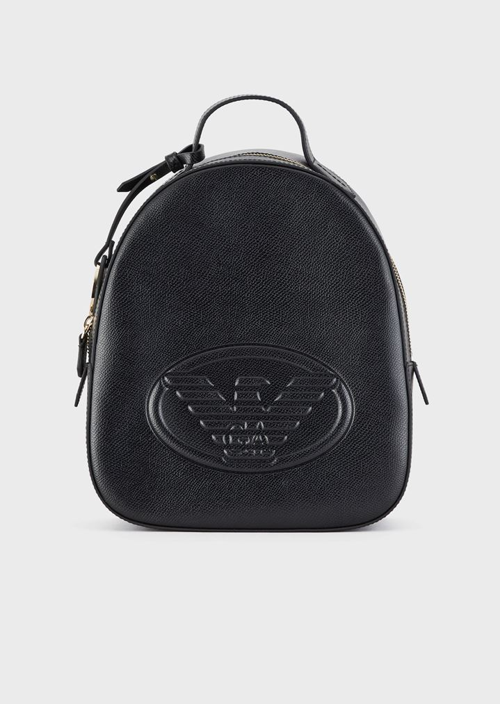 ee03691271 Leatherette backpack with logo and charm | Woman | Emporio Armani
