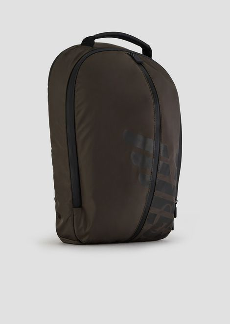 R-EA-MIX backpack in nylon with rubberized inserts and maxi logo