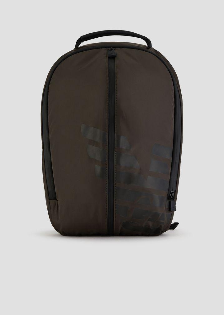 1b1faa7804 Zaino R-EA-MIX in nylon con inserti gommati e maxi-logo