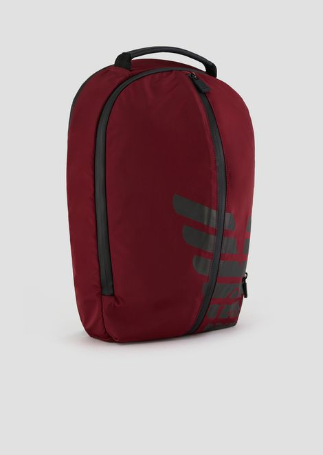 Remix backpack in nylon with rubberized inserts and maxi logo