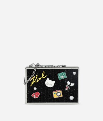 KARL LAGERFELD K/PINS POP BOX-CLUTCH