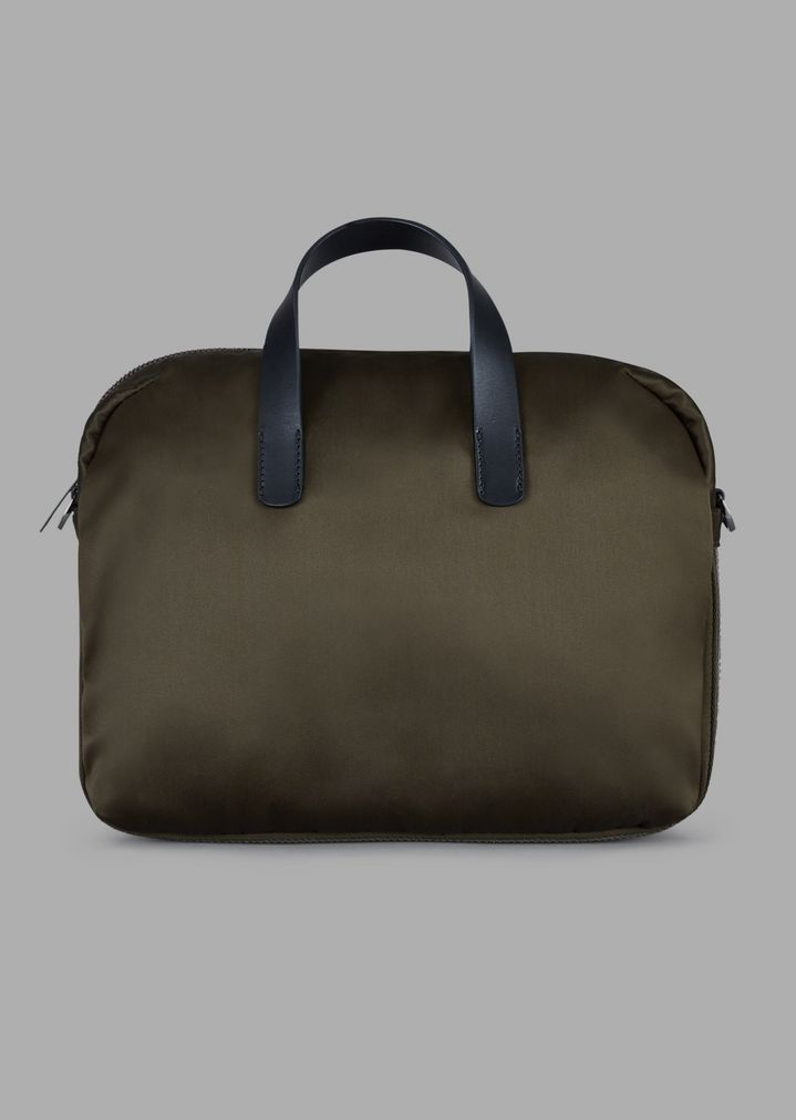 72f8aa7fa9 Weekend holdall with relief logo and two-tone strip