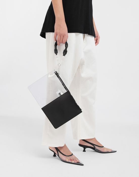 MM6 MAISON MARGIELA Half-And-Half pochette Clutch [*** pickupInStoreShipping_info ***] b