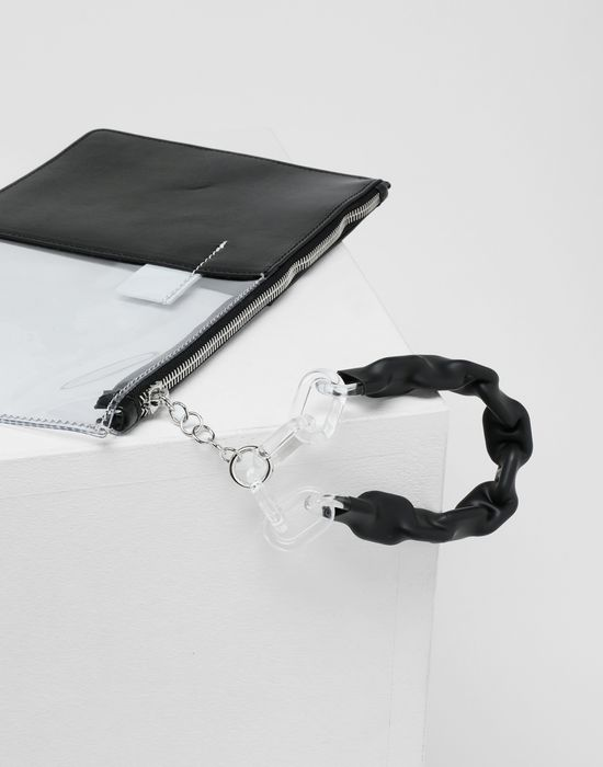 MM6 MAISON MARGIELA Half-And-Half pochette Clutch [*** pickupInStoreShipping_info ***] e