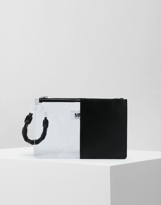 MM6 MAISON MARGIELA Half-And-Half pochette Clutch [*** pickupInStoreShipping_info ***] f