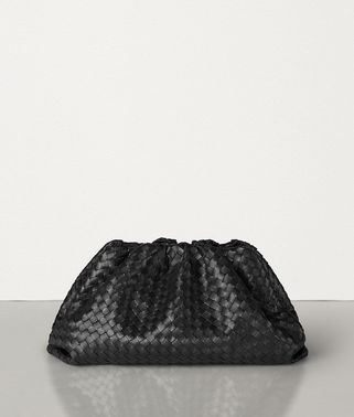 THE POUCH IN VELVET CALF INTRECCIATO LEATHER