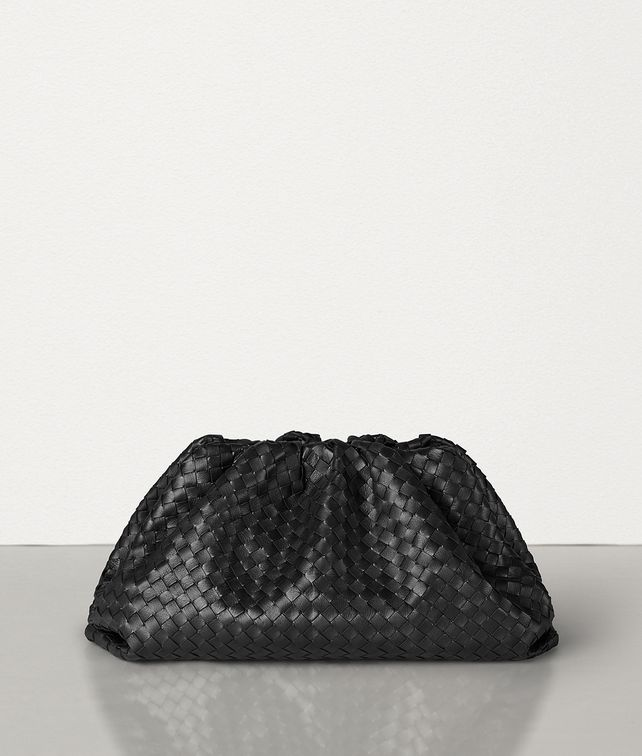 BOTTEGA VENETA THE POUCH IN VELVET CALF INTRECCIATO Clutch Woman fp