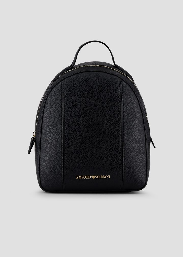 ce4466c618 Leatherette backpack with deer print and logo | Woman | Emporio Armani