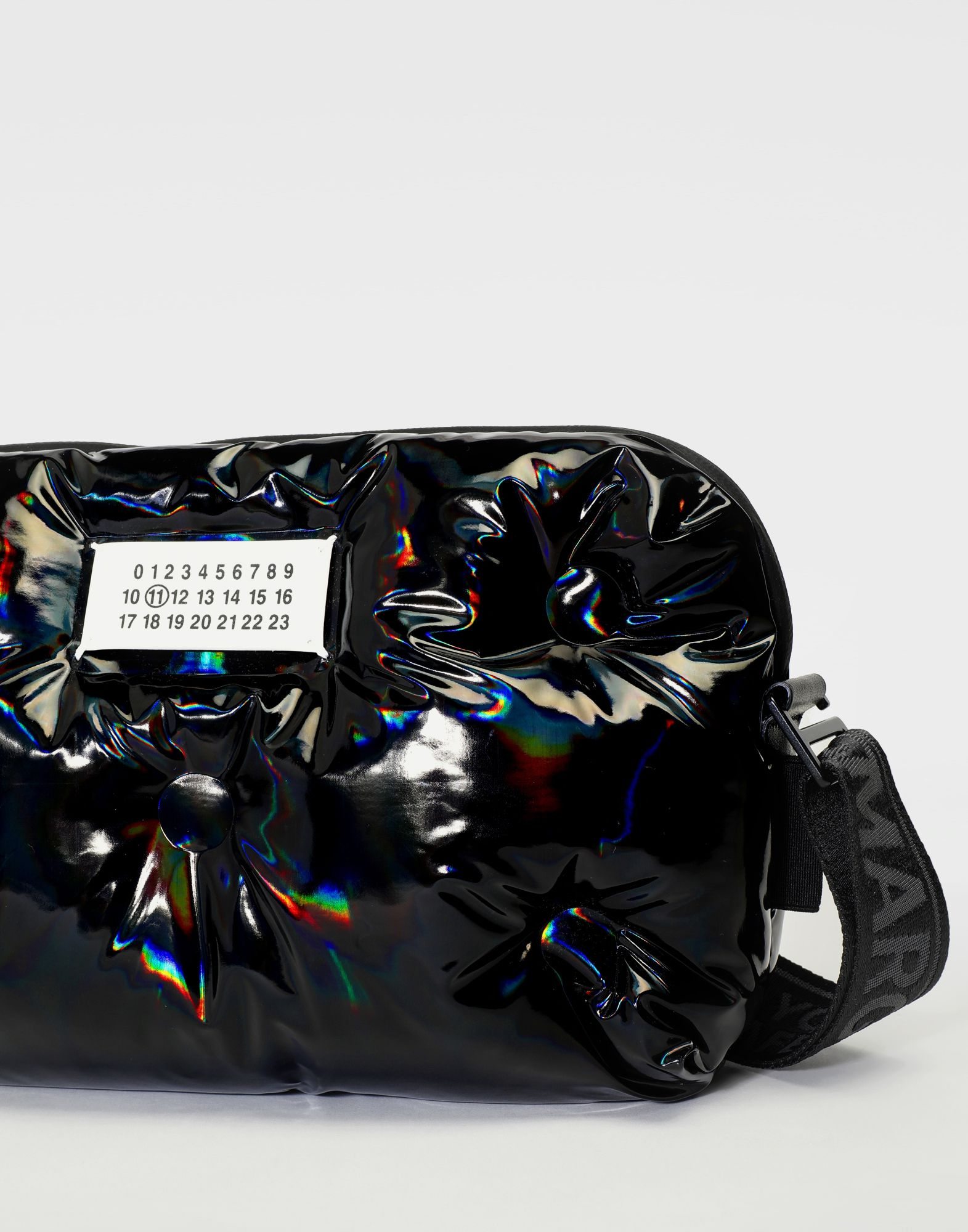 MAISON MARGIELA Glam Slam patent leather crossbody Fanny pack Man d