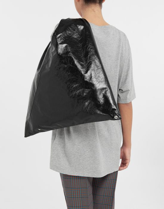 MM6 MAISON MARGIELA Japanese crinkled leather medium bag Tote [*** pickupInStoreShipping_info ***] b