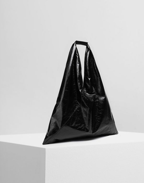 MM6 MAISON MARGIELA Japanese crinkled leather medium bag Tote [*** pickupInStoreShipping_info ***] r