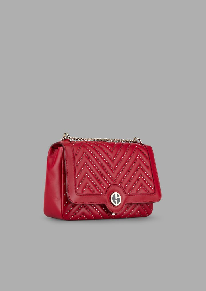 2cb398cafc Chinese New Year cross-body bag in nappa leather with Chevron studs ...