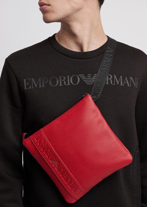 Cross-body bag in faux leather