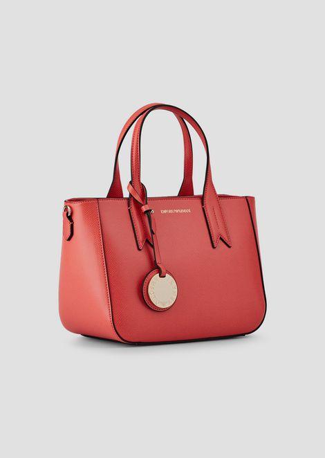 Small handbag with logoed charm