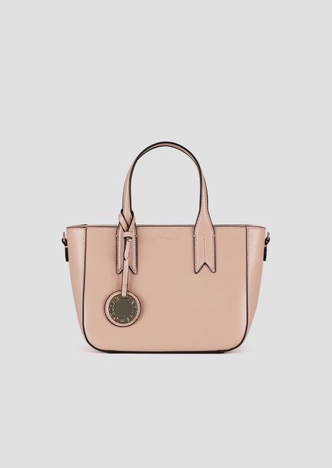 Small hand bag with logoed charm