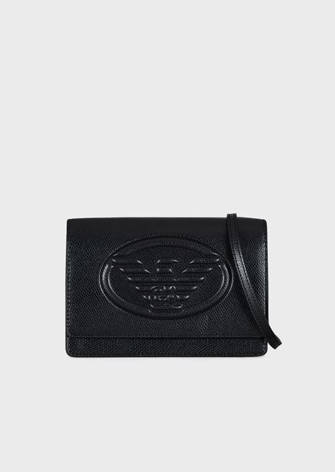 Mini cross-body bag with Emporio Armani logo
