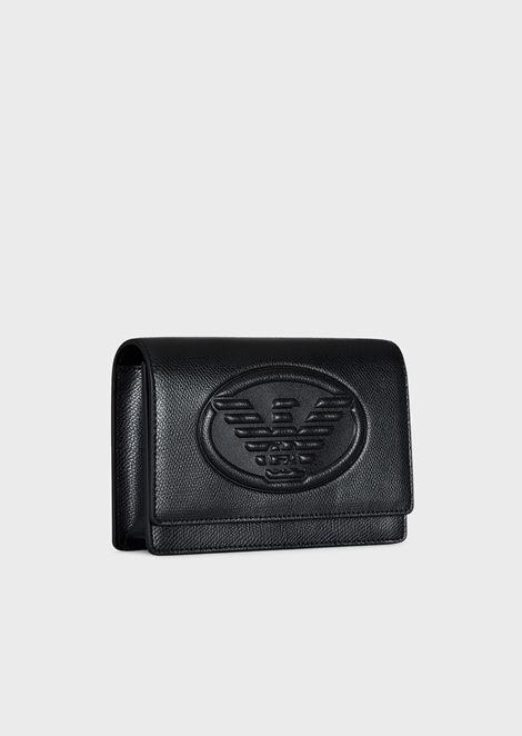 Mini-bag a tracolla con maxi-logo Emporio Armani