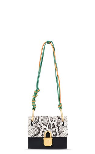 Python-print shoulder bag