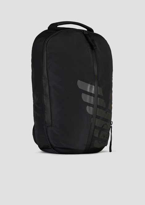 R-EA-MIX backpack in nylon with rubberised inserts and maxi logo