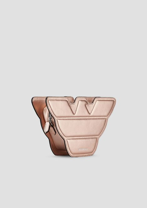 Petit sac en forme d'aigle en cuir métallisé