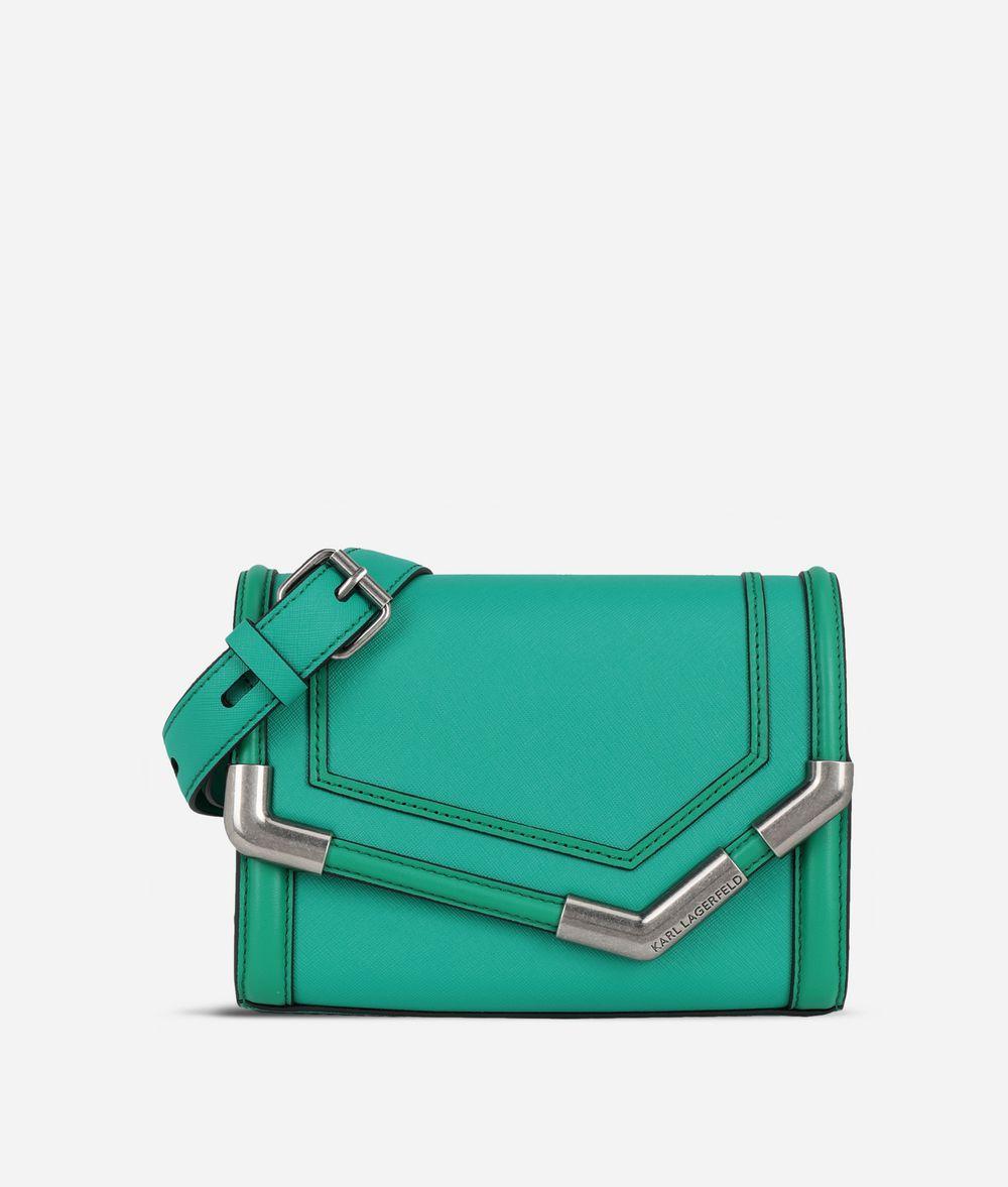 KARL LAGERFELD K/Rocky Saffiano Small Shoulder Bag Handbag Woman f