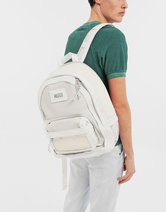 MAISON MARGIELA Décortiqué leather-PVC backpack Backpack [*** pickupInStoreShippingNotGuaranteed_info ***] b